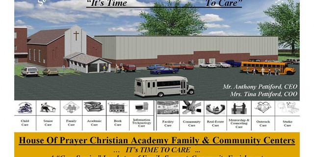 House Of Prayer Christian Academy & Community Centers: It's Time to Care.